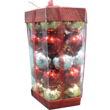 RED, SILVER AND GOLD BAUBLES CHRISTMAS TREE ORNAMENTS DECORATIONS